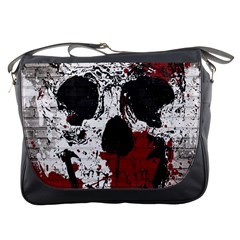 Skull Grunge Graffiti  Messenger Bag by OCDesignss