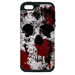Skull Grunge Graffiti  Apple Iphone 5 Hardshell Case (pc+silicone) by OCDesignss