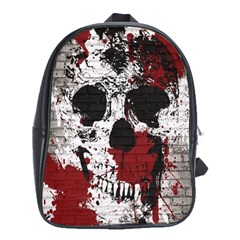 Skull Grunge Graffiti  School Bag (xl) by OCDesignss