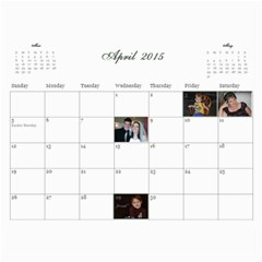 2015 Calendar Mom By Sarah   Wall Calendar 11  X 8 5  (12 Months)   Ywcxtmlzu9fb   Www Artscow Com Apr 2015