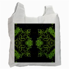 Jungle Fever Mix White Reusable Bag (two Sides) by OCDesignss