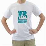 heat names and numbers bowl - Men s T-Shirt (White) (Two Sided)