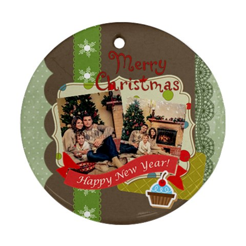 Xmas By Xmas   Ornament (round)   Dmei6hjnd6f6   Www Artscow Com Front
