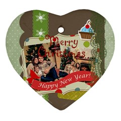 Xmas By Xmas   Heart Ornament (two Sides)   Pn9kcgkm2qn2   Www Artscow Com Front