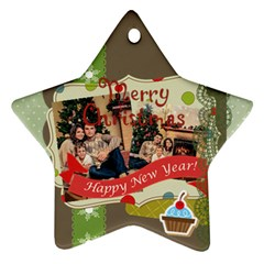 Xmas By Xmas   Star Ornament (two Sides)   Udxbxegy6o83   Www Artscow Com Back