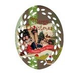 xmas - Oval Filigree Ornament (Two Sides)