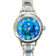 Magician  Round Italian Charm Watch by icarusismartdesigns