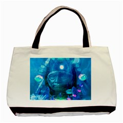 Magician  Twin Sided Black Tote Bag by icarusismartdesigns