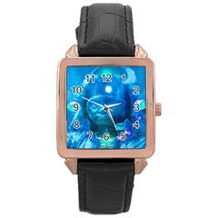 Magician  Rose Gold Leather Watch  by icarusismartdesigns
