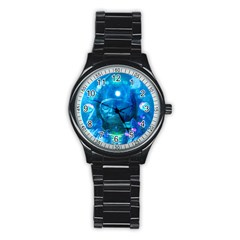 Magician  Sport Metal Watch (black) by icarusismartdesigns