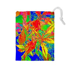 Sun Coleus Enhanced Drawstring Pouch (large) by sirhowardlee