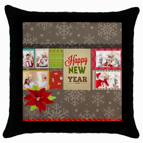 Xmas By Xmas   Throw Pillow Case (black)   Ngm1aaprku9i   Www Artscow Com Front