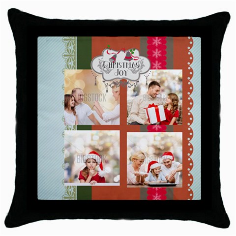 Xmas By Xmas   Throw Pillow Case (black)   Ad04ab9op99f   Www Artscow Com Front