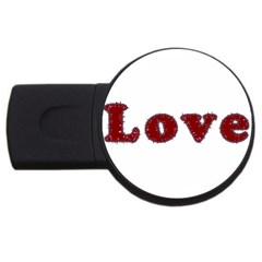 Love Typography Text Word 2gb Usb Flash Drive (round) by dflcprints