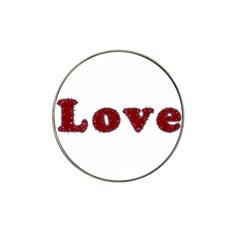 Love Typography Text Word Golf Ball Marker 10 Pack (for Hat Clip) by dflcprints