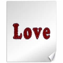 Love Typography Text Word Canvas 11  X 14  (unframed) by dflcprints