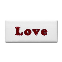 Love Typography Text Word Hand Towel by dflcprints
