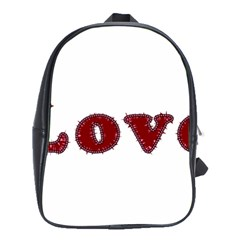 Love Typography Text Word School Bag (large) by dflcprints