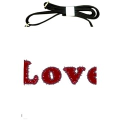 Love Typography Text Word Shoulder Sling Bag by dflcprints