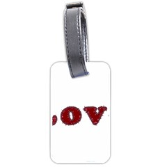Love Typography Text Word Luggage Tag (one Side)