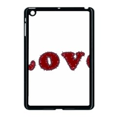 Love Typography Text Word Apple iPad Mini Case (Black) by dflcprints