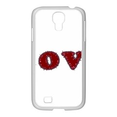 Love Typography Text Word Samsung Galaxy S4 I9500/ I9505 Case (white) by dflcprints