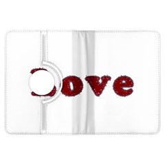 Love Typography Text Word Kindle Fire Hdx Flip 360 Case by dflcprints