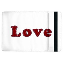 Love Typography Text Word Apple Ipad Air Flip Case by dflcprints