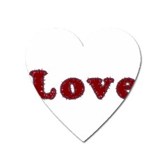 Love Typography Text Word Magnet (heart)