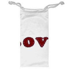 Love Typography Text Word Jewelry Bag by dflcprints
