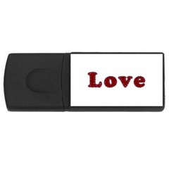 Love Typography Text Word 4gb Usb Flash Drive (rectangle) by dflcprints