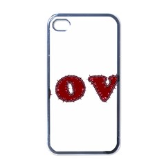 Love Typography Text Word Apple Iphone 4 Case (black) by dflcprints