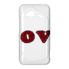 Love Typography Text Word HTC Droid Incredible 4G LTE Hardshell Case by dflcprints