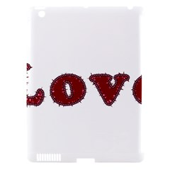 Love Typography Text Word Apple Ipad 3/4 Hardshell Case (compatible With Smart Cover) by dflcprints