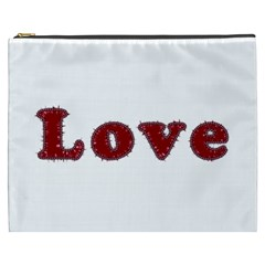 Love Typography Text Word Cosmetic Bag (xxxl) by dflcprints