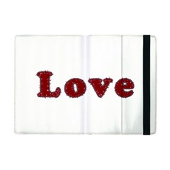 Love Typography Text Word Apple Ipad Mini Flip Case by dflcprints