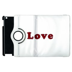 Love Typography Text Word Apple Ipad 2 Flip 360 Case by dflcprints