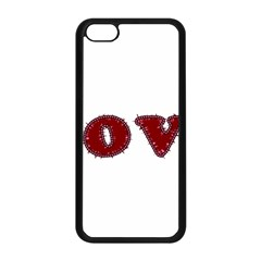 Love Typography Text Word Apple Iphone 5c Seamless Case (black) by dflcprints