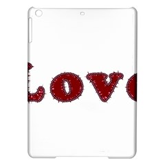 Love Typography Text Word Apple Ipad Air Hardshell Case by dflcprints