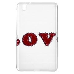 Love Typography Text Word Samsung Galaxy Tab Pro 8 4 Hardshell Case by dflcprints