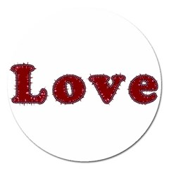Love Typography Text Word Magnet 5  (round) by dflcprints