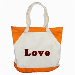 Love Typography Text Word Accent Tote Bag by dflcprints