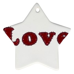 Love Typography Text Word Star Ornament (Two Sides) by dflcprints