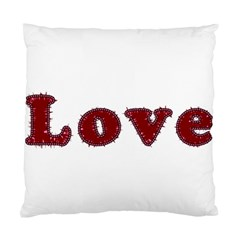 Love Typography Text Word Cushion Case (single Sided)  by dflcprints