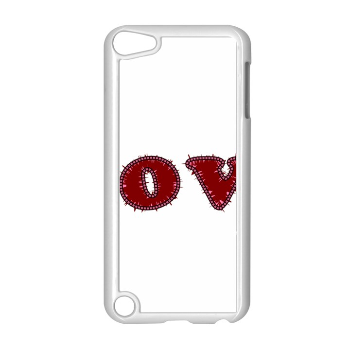 Love Typography Text Word Apple iPod Touch 5 Case (White)