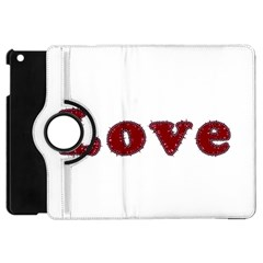Love Typography Text Word Apple Ipad Mini Flip 360 Case by dflcprints