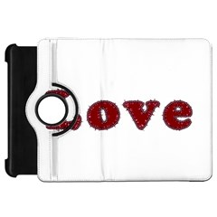 Love Typography Text Word Kindle Fire Hd Flip 360 Case by dflcprints