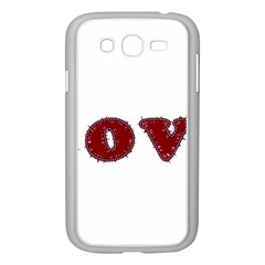 Love Typography Text Word Samsung Galaxy Grand Duos I9082 Case (white) by dflcprints
