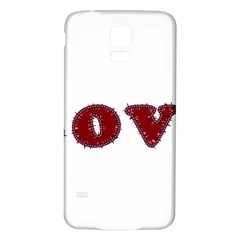 Love Typography Text Word Samsung Galaxy S5 Back Case (white) by dflcprints