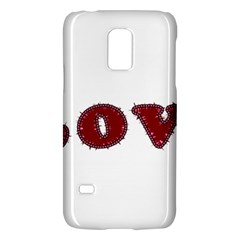 Love Typography Text Word Samsung Galaxy S5 Mini Hardshell Case  by dflcprints